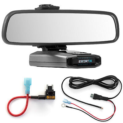 Mirror Mount  + Direct Wire Power Cord + Micro Fuse Tap Escort IX EX Max360C