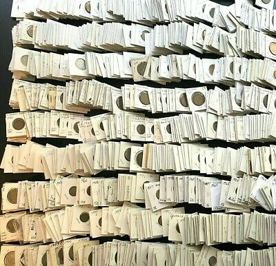 20 Different World Coins in Holders! 2x2 Coin-Flips! Carded Lot!