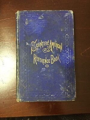 Scientific American Reference Book 1876 Antique For Inventors And Mechanics