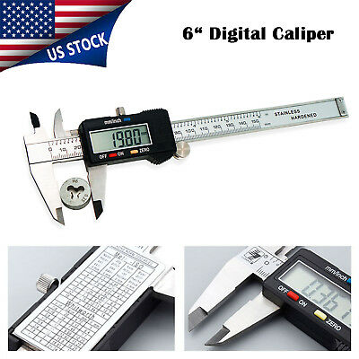 Digital Electronic Gauge Vernier Caliper 150mm/6inch Micrometer Stainless Steel
