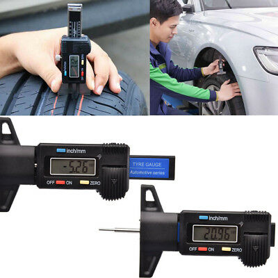 LCD 0-25.4mm Digital Depth Gage Inch Metric Gauge Tire Thread Micrometer Measure