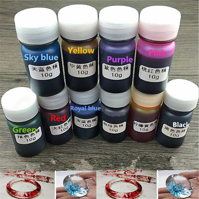 10 Bottles 10G Epoxy Mix Color UV Resin Coloring Dye Colorant Pigment Crafts DIY