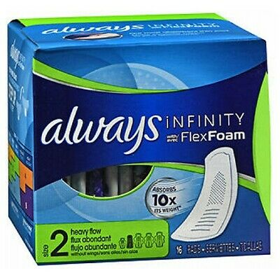 Always Infinity Pads without Wings Heavy Flow 16 Each