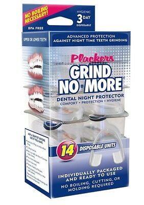 Plackers Grind No More Dental Night Mouth Guard Protector for Bruxism Grind