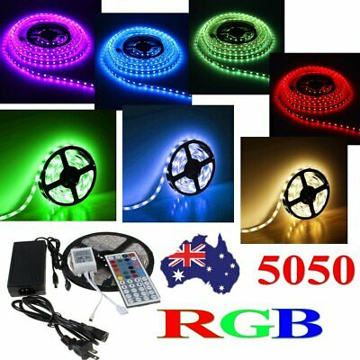 50M 20M 15M 10M 5M 5050 RGB LED Strip Lights Kit Flexible Dimmable Waterproof