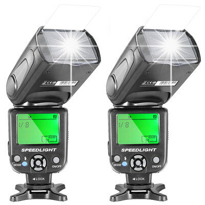 Neewer 2 pieces NW-561 Speedlite Flash with LCD Display for Canon