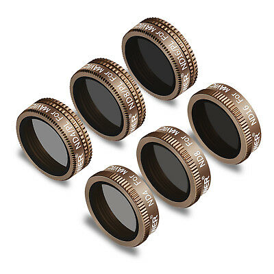 Neewer 6pcs Lens Filter Kit for ND4 ND8 ND16 ND4/PL ND8/PL ND16/PL DJI Mavic Air