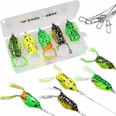 5pcs/box 10cm Frog Soft Fishing Lures For Snakehead Topwater Soft Bait Lure