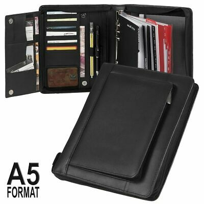 Pro Personal Organizer A5 Leather Organiser with Zip and Outer Pocket 2019
