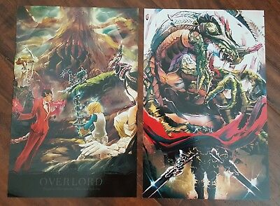 Anime Expo Ax 2018 Exclusive Overlord Post Cards W Imprinted Authors Sign