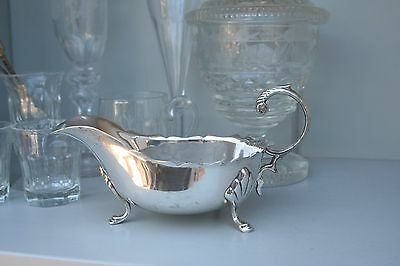 Sauce Boat Silver Plated 1940s Vintage