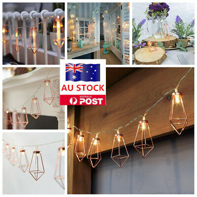 AU LED Lantern Fairy String Lights Battery Xmas Wedding Party Home Decor Lamps