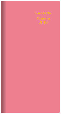 Diary 2019 Collins Vanessa Pink Slimline Week to View Horizontal #375