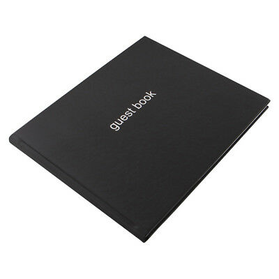A4 Black Letts Guest Book Visitor Book Wedding Guest Book Landscape (Soft Cover)