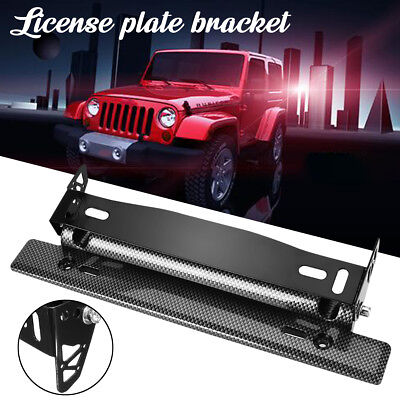 License Number Plate Frame Mount Bracket Holder Bull Bar Bumper Light Lamp LED