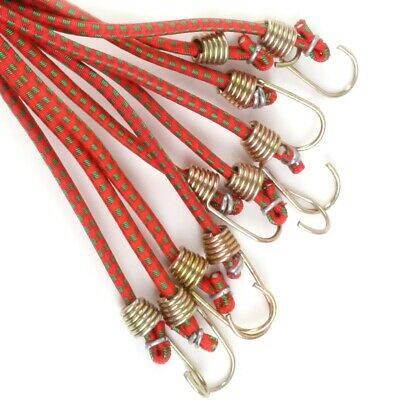 "10 x 10"" MINI SMALL BUNGEE CORDS Short Bike Basket Motorbike Car Elastic Straps"