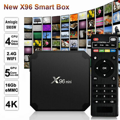 X96mini Smart Android 7.1.2 TV Box S905W Quad Core H.265 2GB/16GB WiFi HD E7X6