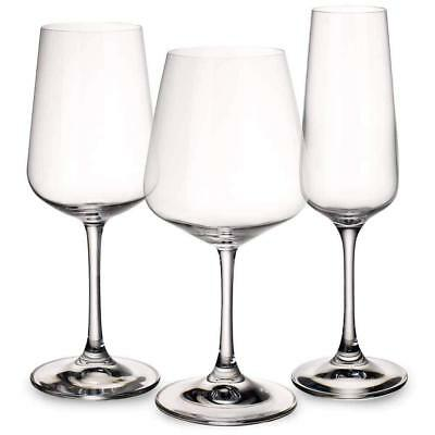 Villeroy & Boch - 12 Piece Wine Glass Set - Red, White, Champagne Ovid Glassware
