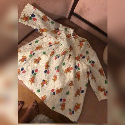 VINTAGE WINNIE THE Pooh 100 Aker Woods Toddler Girl Dress Size 5 ...