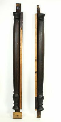 Antique Pair Of Wood Pillars For Pillar And Splat Clocks Mx93