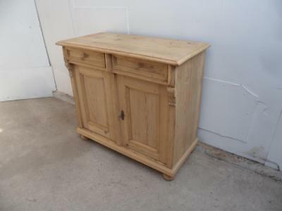 A Fantastic Late Victorian Antique/Old Pine 2 Door Dresser Base to Wax/Paint