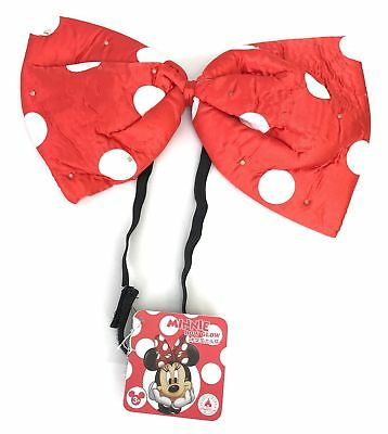 Disney Parks Minnie Mouse LED Light up Red Polka Dot Glow Bow Headband
