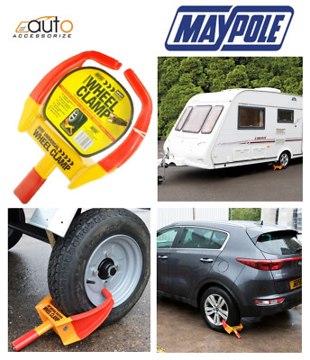 Maypole Universal Security Wheel Clamp Claw / Immobiliser Bike Caravan Car Van