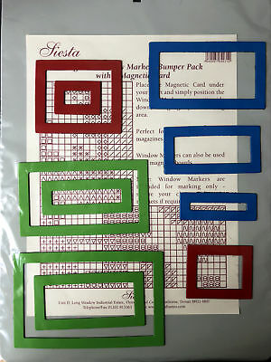 Magnetic Bumper Pack Board and 10 Window Markers by Siesta Frames