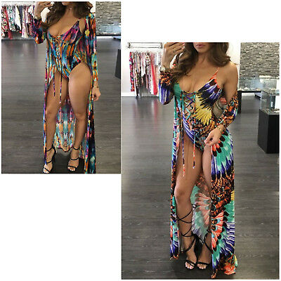 One-piece Swimsuit Summer Sexy Style Long Sleeve Beach Cover Up Blouse For Women