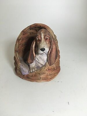Last of the Litter by Sally Miller Hound Dog Figurine SO ADORABLE & Cute !!