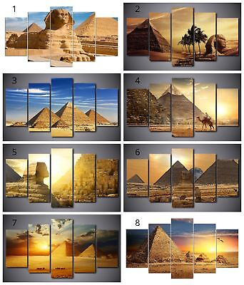 Egypt Pyramids Sphinx Canvas Print Painting Framed Home Decor Wall Art Poster