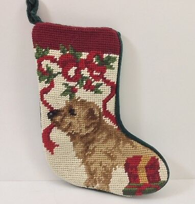 Norfolk Terrier  MINI needlepoint stocking- not a kit