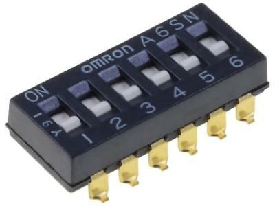 A6SN-6101 Switch DIP-SWITCH Poles number6 ON-OFF 0.025A/24VDC 100MΩ OMRON