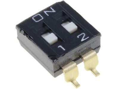 A6S-2101-H Switch DIP-SWITCH Poles number2 ON-OFF 0.025A/24VDC 100MΩ OMRON