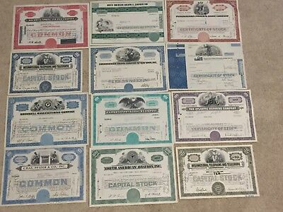 Vintage Stocks Certificates - Great Condition (US Companies)