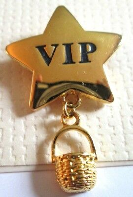 """Jewelry Pin Longaberger Pin Is Star shaped and says VIP 1"""" long by 1 1/2"""" across"""