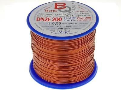 DN2E0.50/0.25 Coil wire double coated enamelled 0.5mm 0,25kg BQ CABLE