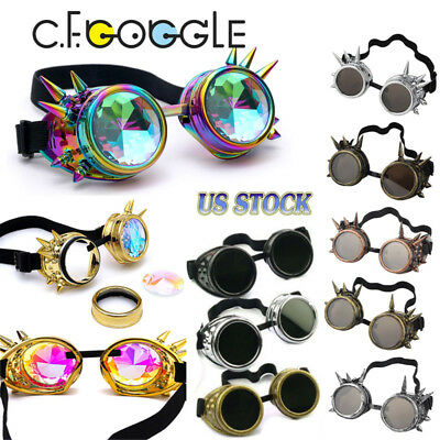 a1606faed3 Vintage Steam Punk Cyber Goggles Steampunk Glasses Vintage Welding Gothic  Gift
