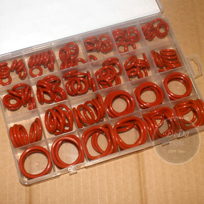 156pcs Food Grade Red Silicone O-Ring Assortment Kit ( Line diameter:3.0mm)