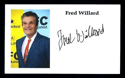 Fred Willard Actor 'Everybody Loves Raymond' Signed 3x5 Index Card C13750