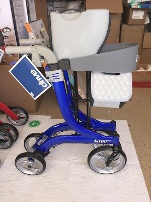 NEW Drive Medical RTL10266BL-HS Nitro DLX Euro Style Walker Rollator Blue! A31