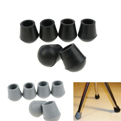 6pcs Rubber Tip For Triangle Cane Stool Walking Stick Crutches Chair 3/4""