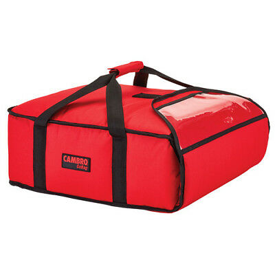 "Cambro GBP216521 Red Pizza Delivery Bag - (2) 16"" Pizza Capacity - Case of 4"