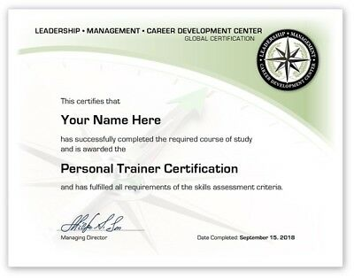 Personal Trainer Training Course Certificate / Diploma Fitness Certification Ace