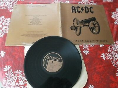 AC/DC For those about to rock  LP Album Canada pressing