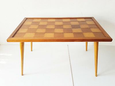 Coffee Table Rectangular A Checkerboard 1950 Vintage Rockabilly 50S 50's
