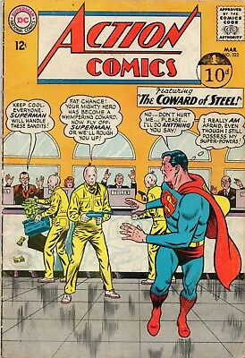 Action Comics # 322 / Fine- / Dc 1965 / Coward Of Steel.