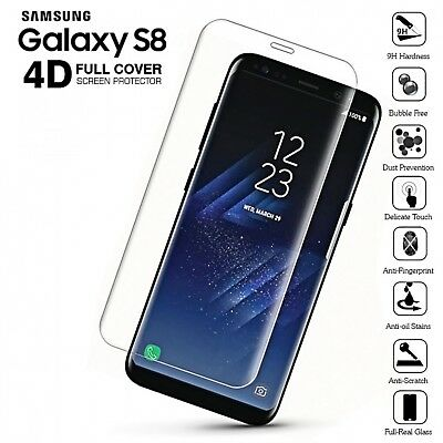 Clear Full Cover Tempered Glass Screen Protector for Samsung Galaxy S8