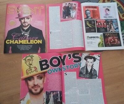 UK Boy George Culture Club  Magazine and Artilces clippings Printed 29/4/18