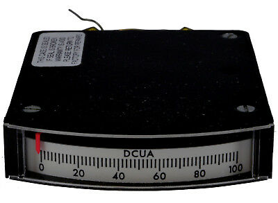 Edgewise 100uADC Panel Meter (no mounting hardware)
